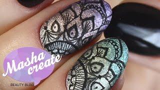 getlinkyoutube.com-Маникюр гель лаком FOX Platinum. Рисунки на ногтях МАРКЕРОМ для ногтей.  Дизайн ногтей с рисунками