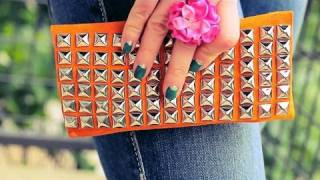 getlinkyoutube.com-DIY Suede Studded Clutch