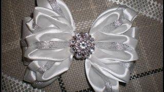 getlinkyoutube.com-Красивый Бант  КАНЗАШИ. /DIY /KANZASHI / Make Hair Bow /Make Hair Bow. /Flower / Tutorial  /