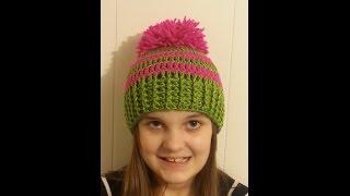 getlinkyoutube.com-CROCHET How to #Crochet Ribbed Striped Beanie Hat #TUTORIAL #151