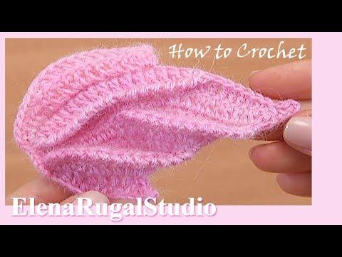 Crochet Trimmed Leaf  Tutorial 39 Demo