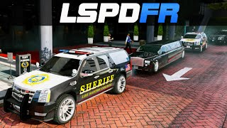 GTA 5 LSPDFR - Presidential Escort from Marine One Helicopter