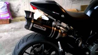 Ducati Monster 796 - Arrow Thunder Dark Exhaust (with Carbon End-caps).