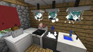 getlinkyoutube.com-[EL] COME CREARE LA CUCINA PERFETTA IN MINECRAFT VANILLA (Kitchen Furniture x2)