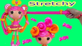 getlinkyoutube.com-Lalaloopsy Stretch Candy Gummy Like Hair Doll Whirly Stretchy Locks Toy Review Unboxing