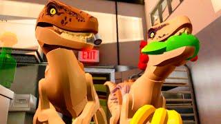 "getlinkyoutube.com-LEGO Jurassic World Raptors in the Kitchen Scene ""Jurassic Park"""