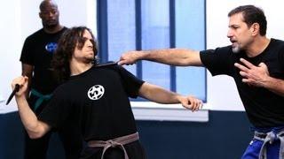 getlinkyoutube.com-How to Defend against a Knife Strike | Krav Maga Defense