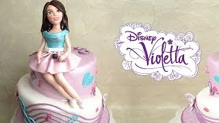 getlinkyoutube.com-Violetta in pasta di zucchero per torta - Fondant Violetta Disney Cake Topper