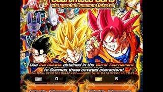 getlinkyoutube.com-World Tournament Guaranteed SSR Golden Tickets x5 Summons! DBZ Dokkan Battle