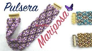 getlinkyoutube.com-Pulsera Mariposa con cuentas Superduo