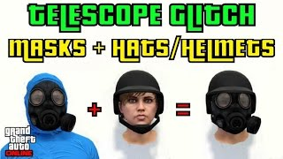 "getlinkyoutube.com-GTA 5 ONLINE TELESCOPE GLITCH ""PUT MASKS ON HATS/HELMETS"" 1.35"
