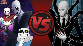 getlinkyoutube.com-W. D. GASTER vs SLENDERMAN! (Undertale vs Creepypasta) Cartoon Fight Club Episode 145