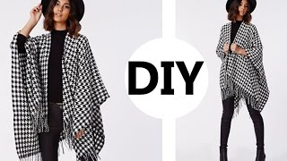 DIY// How To Make A Poncho (Easy Sewing)