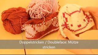 getlinkyoutube.com-Mütze stricken in Doubleface - Stricken für Fortgeschrittene