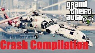 getlinkyoutube.com-GTA V MH 60R Seahawk Variant Helicopter Pack Crash Compilation