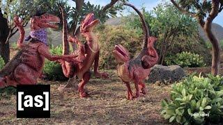 getlinkyoutube.com-Velociraptor Practice | Robot Chicken | Adult Swim