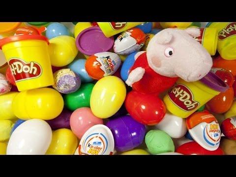 Surprise Eggs Play Doh Huevo Kinder Sorpresa unboxing easter eggs by Unboxingsurpriseegg