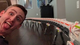 getlinkyoutube.com-WORLD'S LONGEST NERF BLASTER 2.0! 40+ BARRELS!