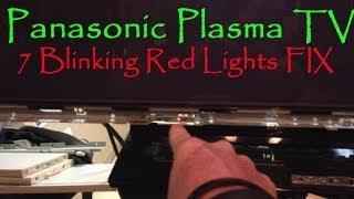 getlinkyoutube.com-Panasonic Plasma TV 7 Blinking Red Lights FIX