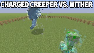 getlinkyoutube.com-Minecraft (Xbox360/PS3) - Charged Creeper VS. Wither Boss!