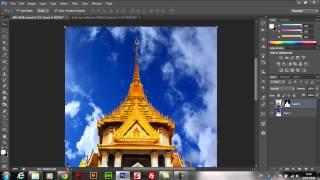 getlinkyoutube.com-Photoshop เปลี่ยนท้องฟ้ามืดมนเป็นท้องฟ้าสีสดใส