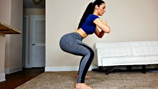 getlinkyoutube.com-Day 2: Butt and Thigh Squat Workout for a Bigger Butt Lift