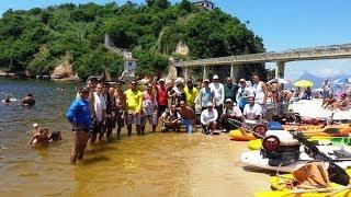 getlinkyoutube.com-Badejo no Encontro de Caiaques em Boa Viagem - Pesca com Caiaque - Kayak Fishing - Leogafanha
