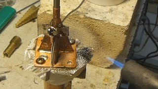 getlinkyoutube.com-Part 5. Making Internal Combustion Engine, No Machine Shop - Soldering the Head and Crank Seal