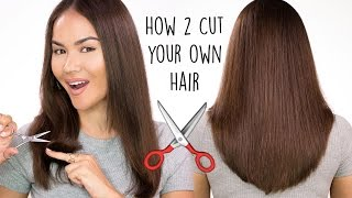 getlinkyoutube.com-How To Cut Your Own Hair | Maryam Maquillage