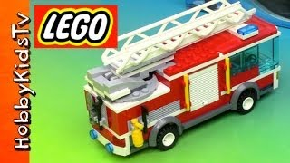 getlinkyoutube.com-LEGO City Fire Truck - Box Opening, Build and Play (60002)