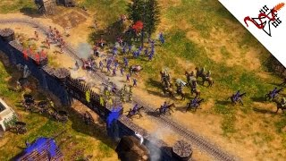 getlinkyoutube.com-Age of Empires 3 - 4vs4 NOOBS Crushing the EXPERTS | Multiplayer Gameplay