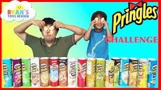 getlinkyoutube.com-PRINGLES CHALLENGE! Potato Chip Flavors Tasting Contest Ryan ToysReview