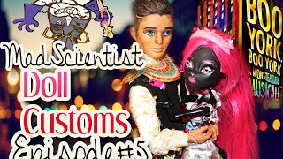 getlinkyoutube.com-Mad Scientist Doll Customs: Episode 5 How to make a Boo York Pharoah Monster High doll