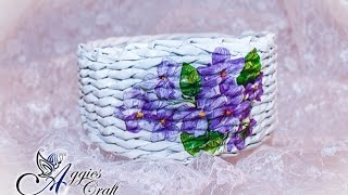 getlinkyoutube.com-Wicker paper tutorial - basket with flowers