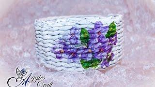 Wicker paper tutorial - basket with flowers