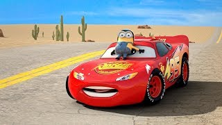 getlinkyoutube.com-Disney Pixar Cars Toys Movies COMPLETE COLLECTION Frozen Mater Ice Monster Lightning McQueen Minions