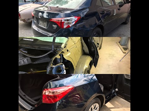 2017 Toyota Quarter Panel Cut Out and Replace