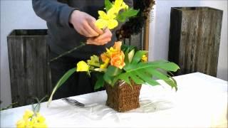 getlinkyoutube.com-How to do japanese flower arrangement for beginners