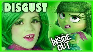 getlinkyoutube.com-INSIDE OUT DISGUST MAKEUP TUTORIAL!  | DISNEY PIXAR COSPLAY! | KITTIESMAMA