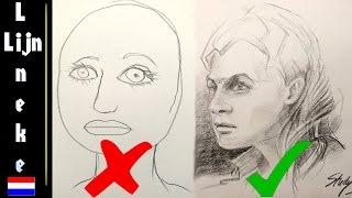 Hoe teken je een Portret - Deel 1- het vermijden van harde lijnen