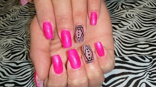 getlinkyoutube.com-Acrylic Nails Infill l Barbie Pink & Accent l Nail Design