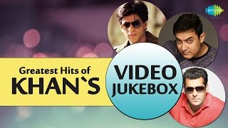 Greatest Hits Of Khan's |  Best Of Bollywood Movie Video Songs | Shahrukh,Salman, Amir Khan