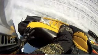 Snowmobile track blowout breaks at 170 kmh