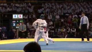 Marcio Ferreira VS Gabriel Mercedes Round 3 Liga Mundial de Taekwondo. World Taekwondo Tour, 2009.