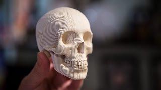 getlinkyoutube.com-Show and Tell: Papercraft Skull Kit