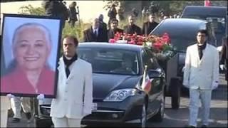خاکسپاری مرضیه در گورستانی در حومه پاریس
