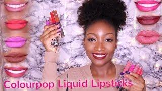 getlinkyoutube.com-COLOURPOP ULTRA MATTE LIQUID LIPSTICKS    Lip Swatches On Darskin