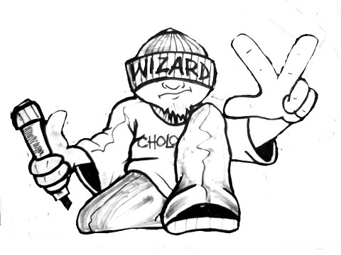 Drawing A Cholo Character- (By Wizard) -(Oldschool Mix 80's)
