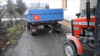 getlinkyoutube.com-Wywóz kukurydzy 2014 - T25a , MF255 , Autosan D46 - podkarpacie