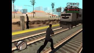 getlinkyoutube.com-GTA San Andreas Fun! Ep.1 Derailed Train!